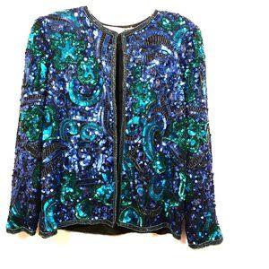 LAURENCE KAZAR Blue Blazer Size Small Vintage VTG